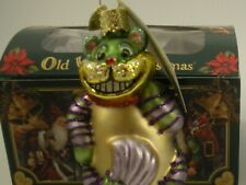 Cheshire Cat Glass ornament- by Merck - from Alice In Wonderland