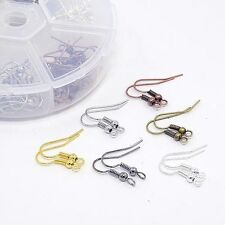 Box of Assorted colour Plated Fish hook Earring Components. Aprx 60 pairs. J1537