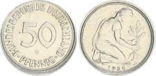 Deutschland 50 Pfennig 1950 G J.384 Fehlprägung 5-10% dezentriert