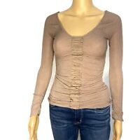 GUESS Brown Long Sleeve Womans Size X-Small