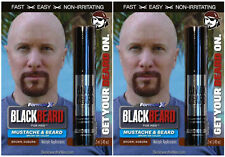 Mens Temporary Hair Colour Dye Mascara Beard Moustache Eyebrows BROWN AUBURN X2