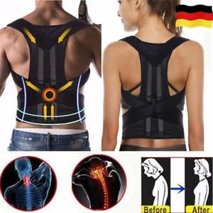 Haltungskorrektur Rückenbandage Schultergurt Rückengürtel Geradehalter Zurück DE