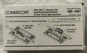 COMMSCOPE 1217204-1 Certi-seal Aerial Drop wire Splice Enclosure AMP D54168