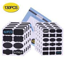 Tableau étiquettes Kit: 130 Premium autocollants pour pots + 2 effaçable Craie Marqueurs
