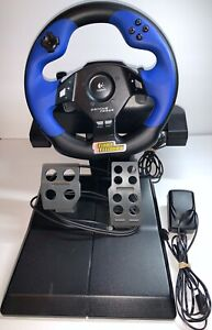 Logitech Driving Force Feedback PS2 PS3 Steering Wheel + Pedals Playstation