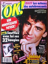 Ok Magazine n°802; Bruel/ Boy George/ Julia Roberts/ Young Guns II/ Swan Philipp