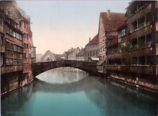 Deutschland, Nürnberg. Fleischerbüche. vintage print photochromie, vintage pho