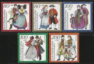 Germany 1994 MNH - Traditional Costumes (II) Halle Minden Hoyerswerda Bueckeburg