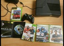 Xbox 360 Slim Console 120gb with downloaded games, pad and 5 games