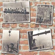 NUOVO Rasch PORTAFOGLIO NEW YORK Mattone Rosso Nero Bianco Foto Carta da parati 235005