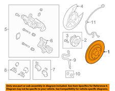 MAZDA OEM 2014 3 Rear Brake-Rotor BJS726251B