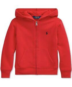 polo ralph lauren Toddle Boys Full Zip Hoodie Sz 5  Red MSRP$40 NWOT