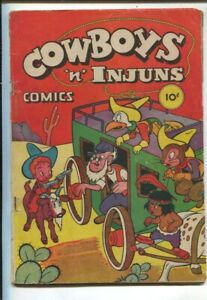 Cowboys 'n' Injuns #1 1946-Compix-1st issue-funny animals-western theme-polit...