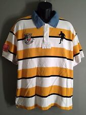 USA Rugby Classic Fit World Class Ruggers Mens XL Striped Polo Shirt - Stained