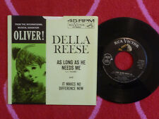 DELLA REESE As Long As He Needs Me 45 rpm w/ PICTURE SLEEVE RCA Victor 1962