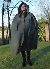 Sale! Green Natural Rubber Rainwear, Rubber Proofed polyester medium weight cape