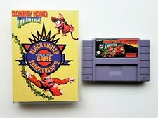 Donkey Kong Country Competition SNES Custom Game Blockbuster Championship II USA