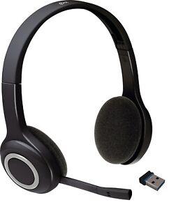 Logitech Logi H600 Wireless Headset kabellos mit USB-Stick Schwarz