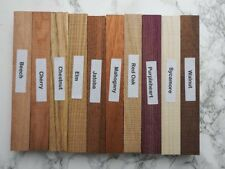Mixed pack of ten wood blanks for pen turning and other small projects