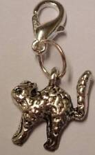 Tibetan Silver Cute Cat Clip On Bracelet Charm