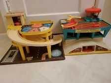 1972 Fisher Price Play Airport & 1970 Parking Ramp Service Center Buildings Only