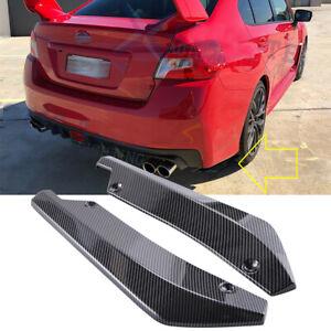 For Subaru WRX STI Carbon Fiber Rear Bumper Splitter Diffuser Canards Spoiler