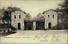 SAALBURG Taunus Nachporto Vermerk 1910 alte AK Hessen Porta Decumana Burg