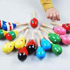 Niedlich glatt Stoffdruck Klingeln Spielzeug für Baby Rassel Holz Sand Hammer