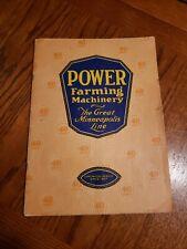 The Great Minneapolis Line 1927 Catalog Brochure Power Farming Machinery