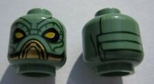 LEGO Star Wars - Minifig, Head Large Yellow Eyes / Black Lines Pattern (Embo)