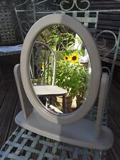 Shabby Chic Small  DRESSING TABLE MIRROR  Pine * Annie Sloan French Linen *