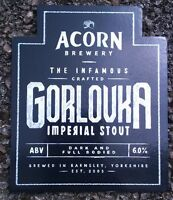 ACORN brewery GORLOVKA IMPERIAL STOUT ale beer pumpclip badge front pump clip