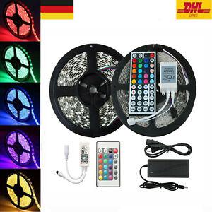 5-20m 5050 SMD RGB LED Stripe Leiste Streifen Band WiFi APP Controller Trafo 12V