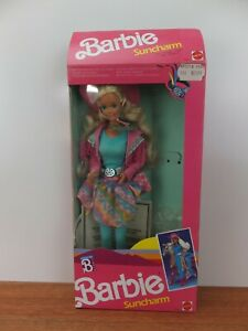 Vintage 1989 BARBIE SUNCHARM Western Fun 9932 In Original Box