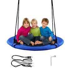 "40"" Flying Saucer Tree Swing Indoor Outdoor Play Set Kids Christmas Gift Blue"