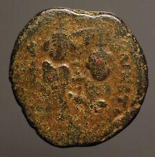 Z-420 Sassanian occupation of Syria, c.622/3 Ad. Ae follis imitating Heraclius