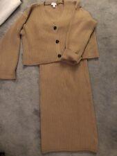 Topshop Size Small Tube Skirt Box Cardigan Camel