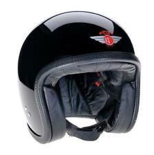 CLEARANCE SALE | Davida Speedster Motorcycle Helmet V3 BlackLargePress Studs