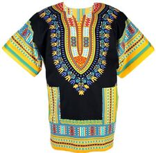 Dashiki Caftan Shirt Tribal African Womens Hippie Rasta Blouse Top Mens one size