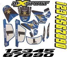 kit deco moto cross Bleu pour Yamaha PW50 PW 50 Très Haute Qualité N° au choix