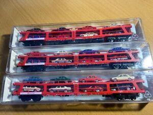fleischmann 829501k x 3  autozug car carriers