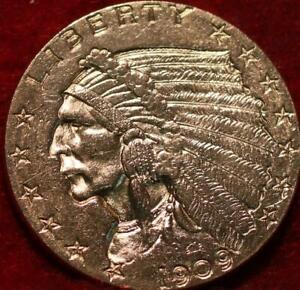1909 Philadelphia Mint Gold $2.50 Coin