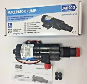 "Jabsco 18590-2092 Macerator Waste Pump 12V DC Marine 1-1/2"" 1"""