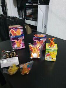 Charizard and pikachu Pokemon Figurine Japanese Bandai Rare
