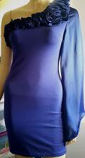 A X PARIS Purple Party Dress with Flower Detail Size: 8 BNWT
