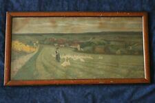 Litho Lithographie Paul Hey 1903 Gänse Liesel Gänsemagd Ortsansicht Landschaft