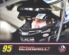 """2017 MICHAEL MCDOWELL """"LEAVINE HELMET SHOT"""" #95 MONSTER ENERGY NASCAR POSTCARD"""