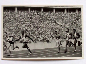 Olympics 1936 Jesse Owens USA-First change of the 4x100 m relay, Summer Olympics