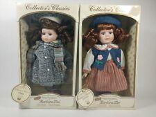 2x Petite Porcelains by Barbara Lee (Debbie & Clara) Collectors Classics Dolls