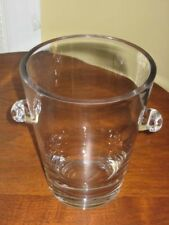 VERA WANG Glass VASE Clear Glass Contemporary Modern w/Handles FTD 7""